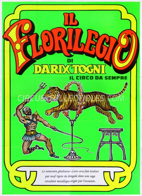 Darix Togni Circus Poster - Italy, 1990