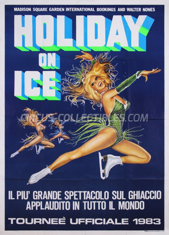 Holiday On Ice Circus Poster - USA, 1983