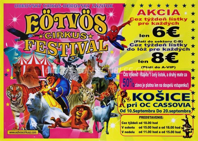 Eötvös Cirkusz Circus Poster - Hungary, 2015