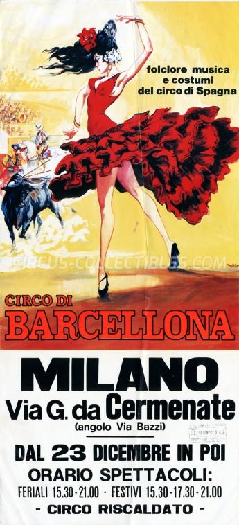 Circo di Barcellona Circus Poster - Italy, 1989