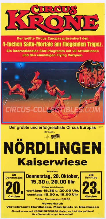 Krone Circus Poster - Germany, 1994
