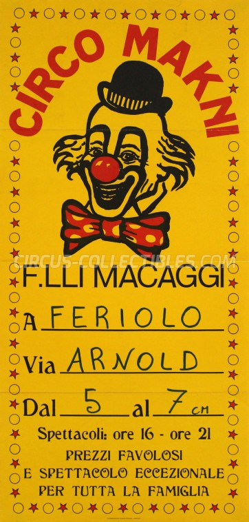 Makni Circus Poster - Italy, 1985