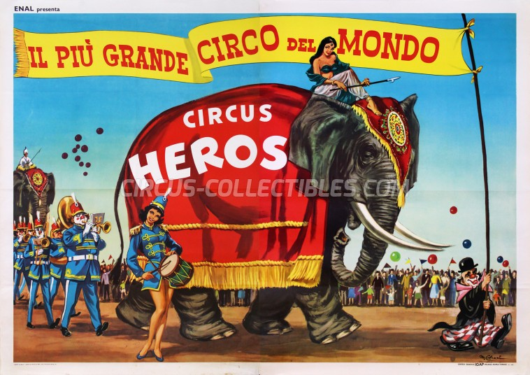 Heros Circus Poster - Italy, 1962