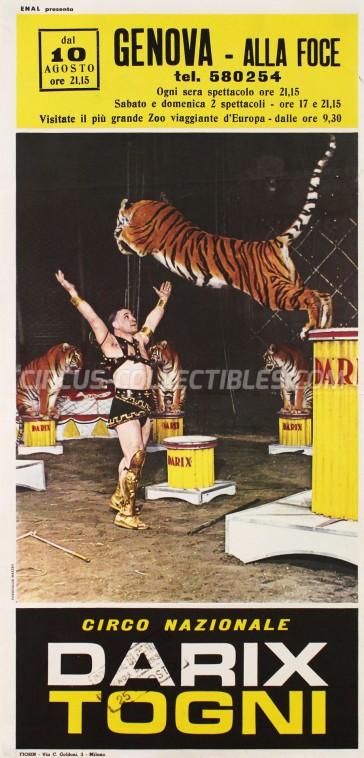 Darix Togni Circus Poster - Italy, 1963