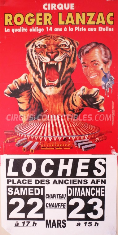 Roger Lanzac Circus Poster - France, 0