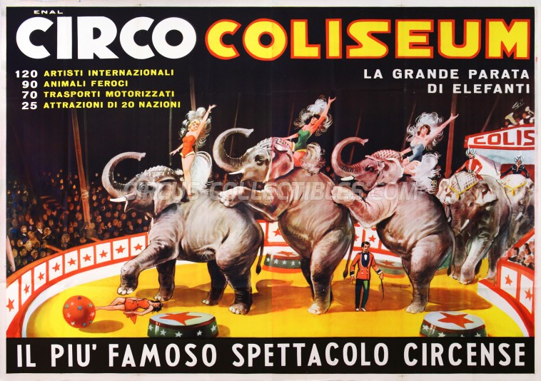 Coliseum Circus Poster - Italy, 0