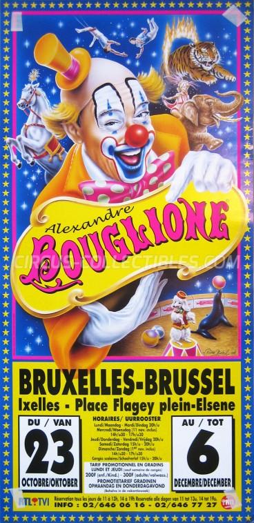 Alexandre Bouglione Circus Poster - Belgium, 1998