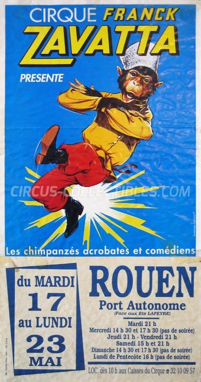 Franck Zavatta Circus Poster - France, 1994