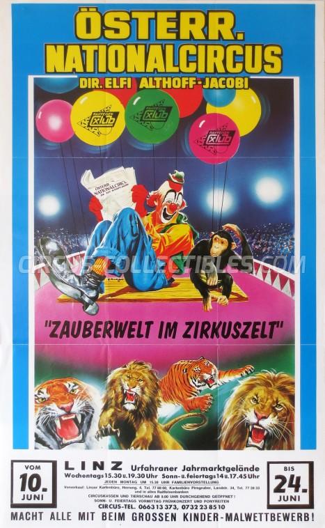 Elfi Althoff-Jacobi Circus Poster - Austria, 1992