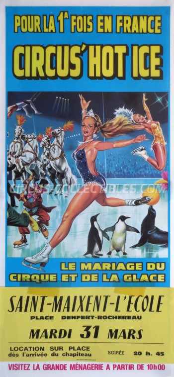 Circus' Hot Ice Circus Poster - France, 1987