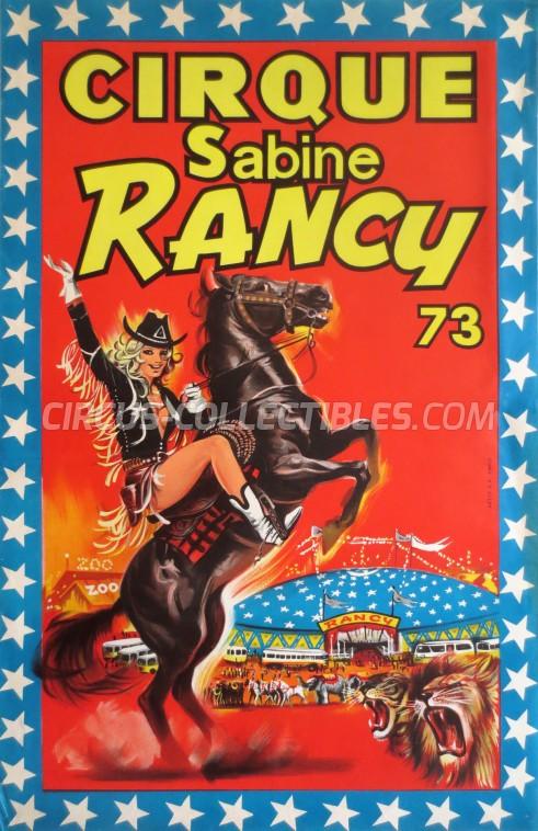 Sabine Rancy Circus Poster - France, 1973