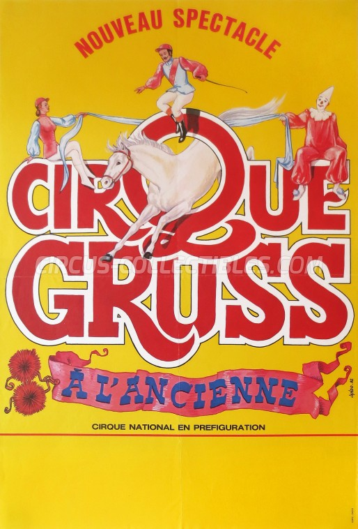 Alexis Gruss Circus Poster - France, 1982