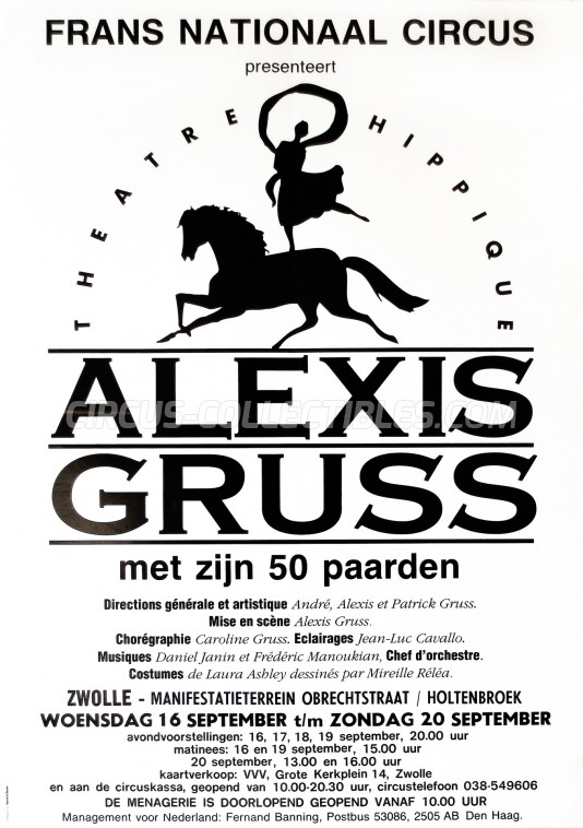 Alexis Gruss Circus Poster - France, 1992