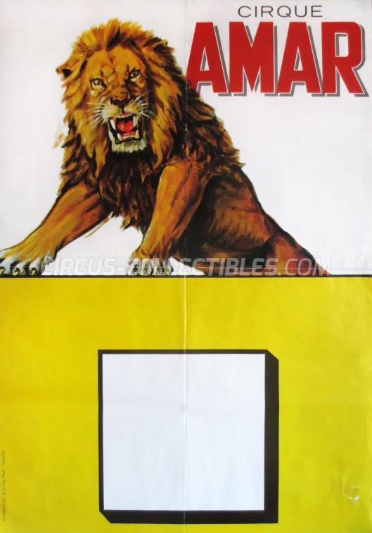 Amar Circus Poster - France, 1969