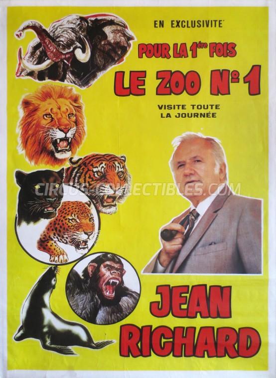 Pinder - Jean Richard Circus Poster - France, 1983