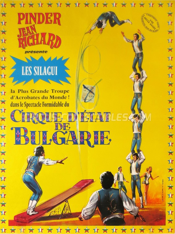 Pinder - Jean Richard Circus Poster - France, 1978