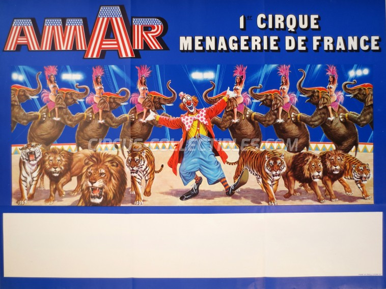 Amar Circus Poster - France, 1977