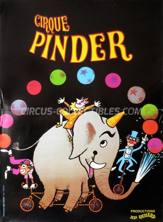 Pinder - Jean Richard Circus Poster - France, 1980
