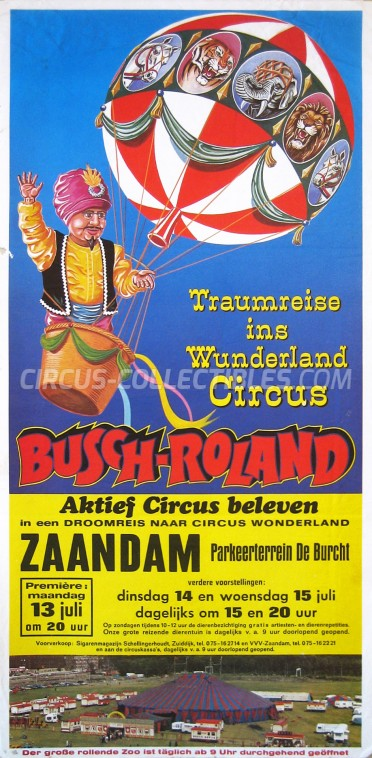 Busch-Roland Circus Poster - Germany, 1981
