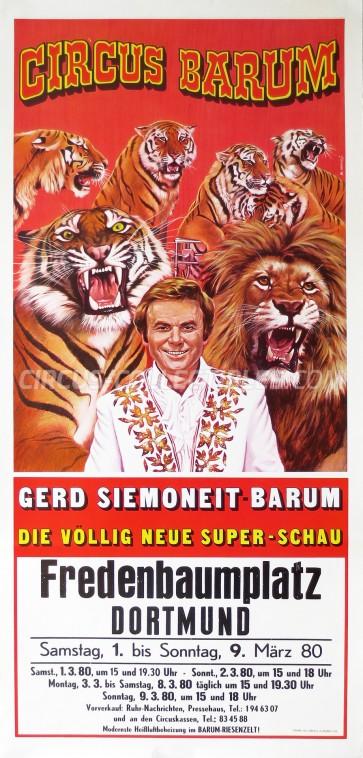 Barum Circus Poster - Germany, 1980