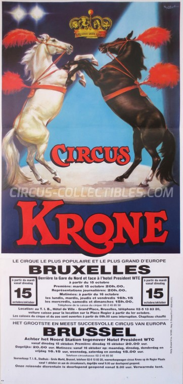 Krone Circus Poster - Germany, 1991