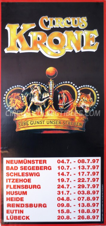 Krone Circus Poster - Germany, 1997