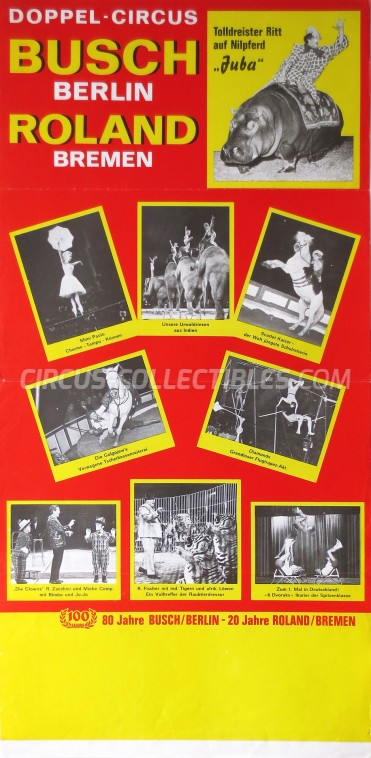 Busch-Roland Circus Poster - Germany, 1972
