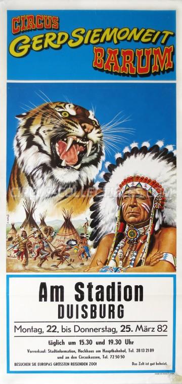 Barum Circus Poster - Germany, 1982