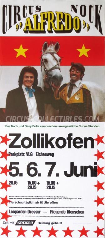 Alfredo Nock Circus Poster - Switzerland, 1980