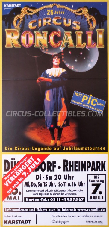 Roncalli Circus Poster - Germany, 2001