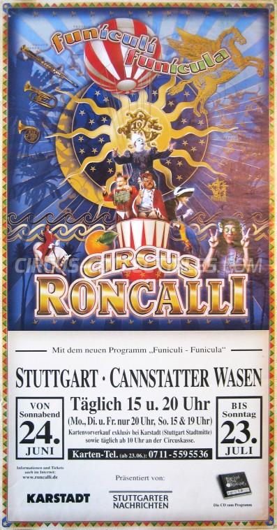Roncalli Circus Poster - Germany, 2000