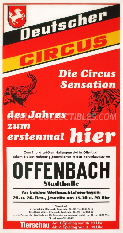 Deutscher Circus Circus Poster - Germany, 0