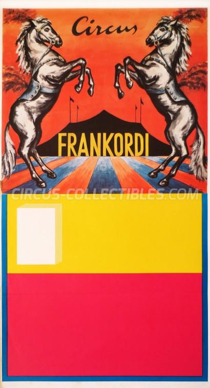 Frankordi Circus Poster - Germany, 1972