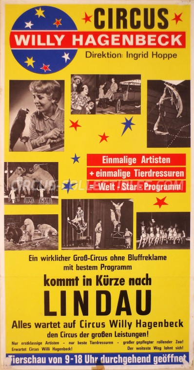 Willy Hagenbeck Circus Poster - Germany, 1970