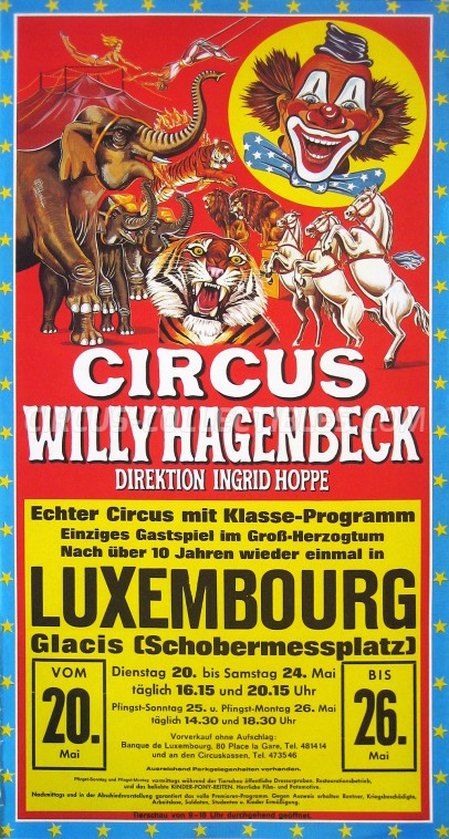 Willy Hagenbeck Circus Poster - Germany, 1979