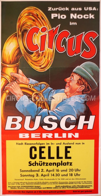 Busch Berlin Circus Poster - Germany, 1977