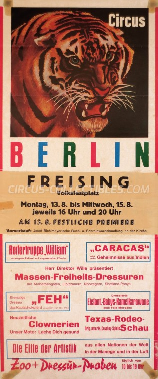 Berlin Circus Poster - Germany, 1972