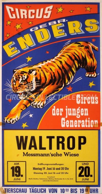 Gebr. Enders Circus Poster - Germany, 1972