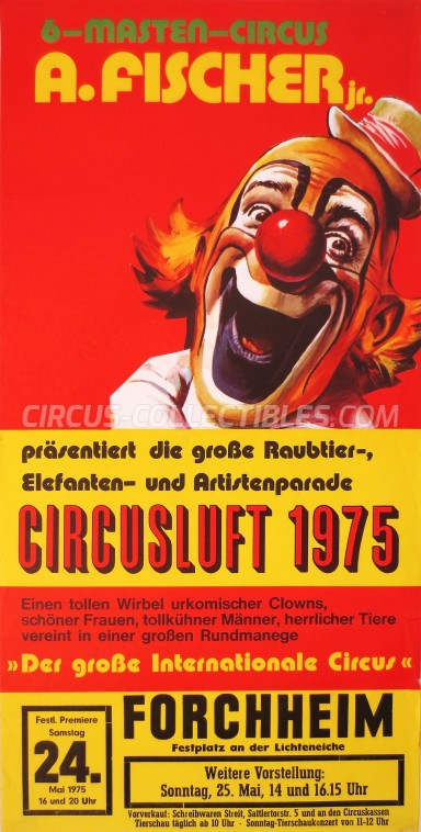 A. Fischer Jr. Circus Poster - Germany, 1975