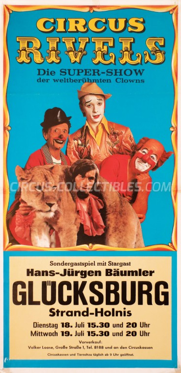 Rivels Circus Poster - Germany, 1978