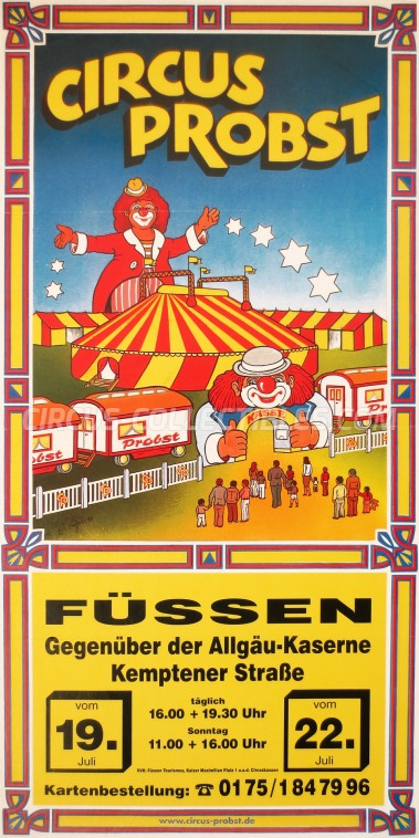 Probst Circus Poster - Germany, 0