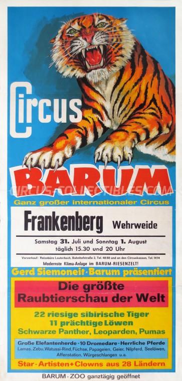 Barum Circus Poster - Germany, 1979
