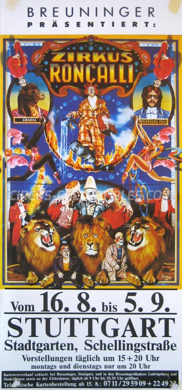 Roncalli Circus Poster - Germany, 0