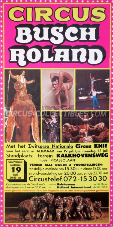 Busch-Roland Circus Poster - Germany, 1979