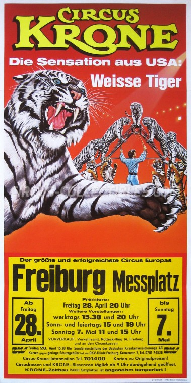 Krone Circus Poster - Germany, 1989