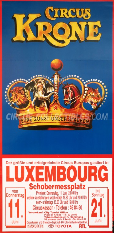 Krone Circus Poster - Germany, 1998