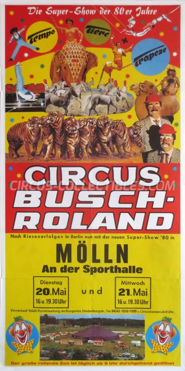 Busch-Roland Circus Poster - Germany, 1980