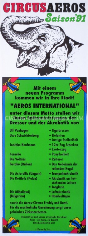 Aeros Circus Poster - Germany, 1991