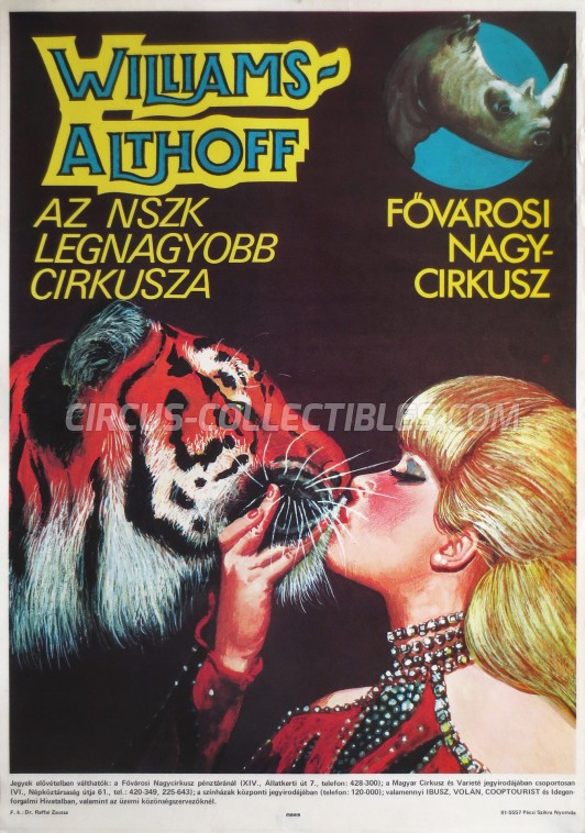Althoff-Williams Circus Poster - Germany, 1981