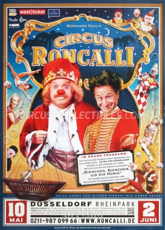 Roncalli Circus Poster - Germany, 2013